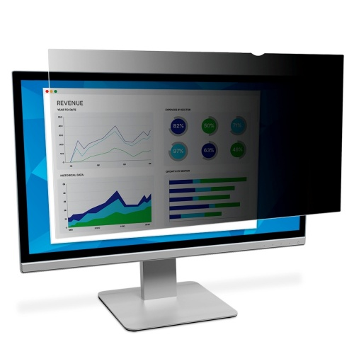 """3M Filtro de Privacidad para Monitor 19"""", Negro"""