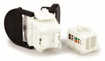 3M Jack de Red Cat6, RJ-45, Negro/Blanco