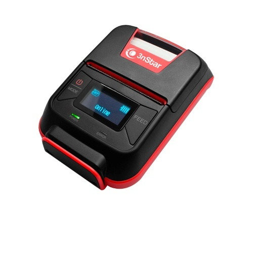 3nStar Impresora Móvil PPT200BT, Térmica Directa, Inalámbrico, 203 x 203 DPI, Bluetooth, USB 2.0, Negro/Rojo