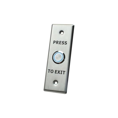 AccessPRO Botón de Salida con Aro Iluminado ACCESS40, Alámbrico, Acero Inoxidable