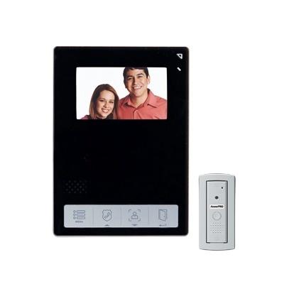 AccessPRO Kit de Videoportero TVPRO-400B, Monitor 4.3'', Alámbrico, Negro