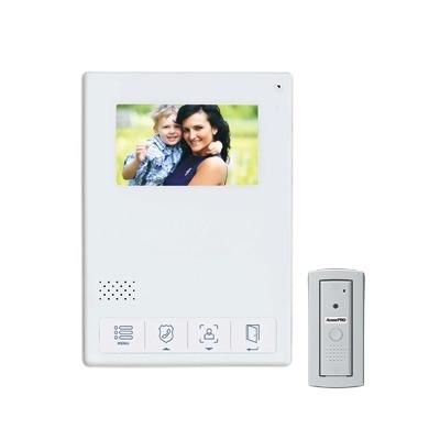 "AccessPRO Kit de Videoportero TVPRO-400W, Monitor 4.3"", Alámbrico, Blanco"