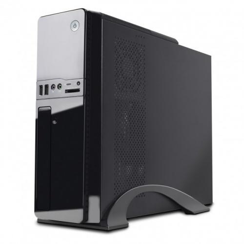 Gabinete Acteck Sion, Torre, Micro-ATX/Mini-ATX/Mini-ITX, USB 2.0/3.0, con Fuente de 500W, Negro/Plata