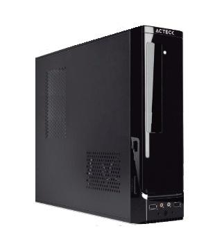 Gabinete Acteck Slim Atom, Micro ATX/Mini-ITX, 2x USB, incluye Fuente de 450W, Negro