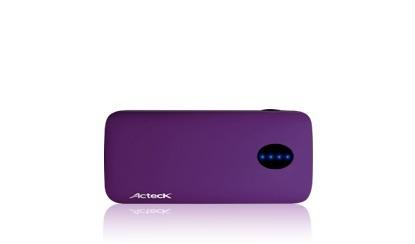 Cargador Portátil Acteck PowerBank PWPB-403, 4400mAh, Morado