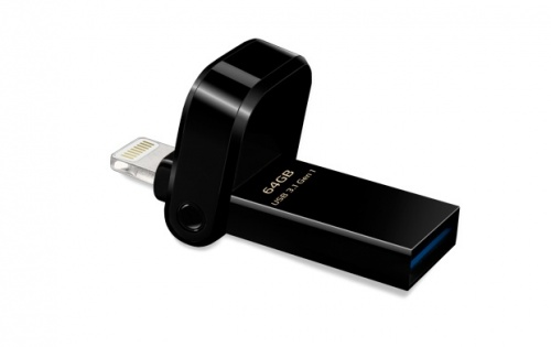 Memoria USB Adata AI920, 64GB, Lightning/ USB 3.0, Negro - para iPhone/iPad/iPod