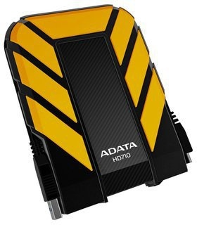 Disco Duro Externo Adata DashDrive Durable HD710 2.5'', 1TB, USB 3.0, 5400RPM, Amarillo, A Prueba de Agua y Golpes - para Mac/PC