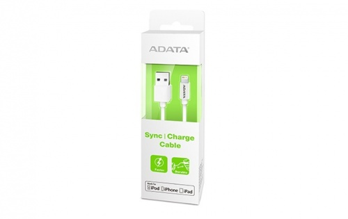 Adata Cable USB 2.0 A Macho - Lightning Macho, 1 Metro, Blanco