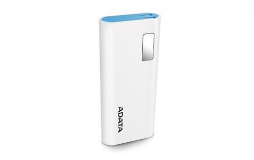 Cargador Portátil Adata PowerBank P12500D, 12.500mAh, Blanco