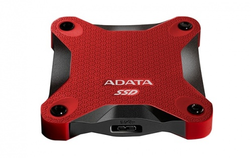 SSD Adata SD600, 256GB, USB C, Rojo, A Prueba de Golpes