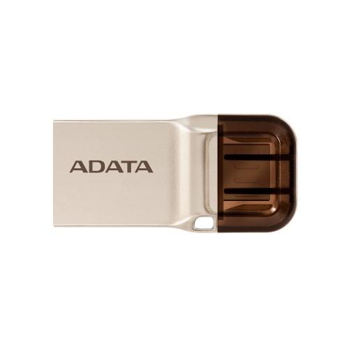Memoria USB Adata UC360 OTG, 64GB, USB 3.1, Oro
