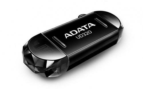 Memoria USB Adata UD320, 64GB, USB 2.0/Micro USB, Negro