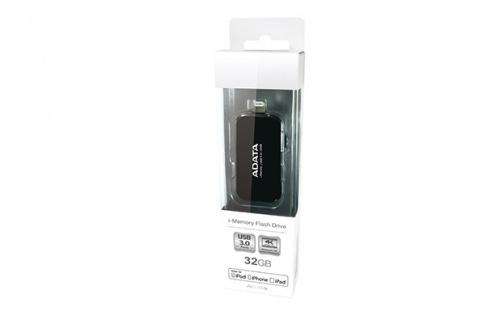 Memoria USB Adata UE710, 32GB, USB 3.0/Lightning, Negro
