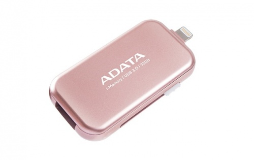 Memoria USB Adata UE710, 32GB, USB 3.0/Lightning, Rosa