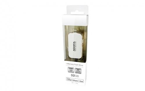 Memoria USB Adata UE710, 32GB, USB 3.0/Lightning, Blanco