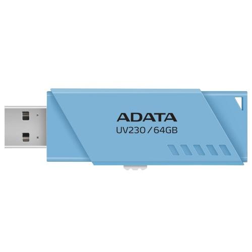 Memoria USB Adata UV230, 64GB, USB 2.0, Azul