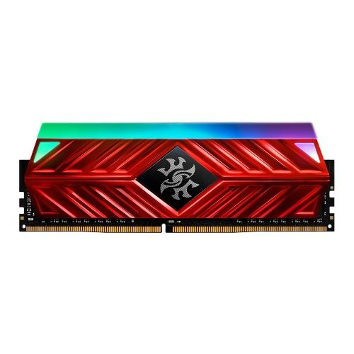 Memoria RAM XPG SPECTRIX D41 RGB DDR4 Red, 3200MHz, 8GB, Non-ECC, CL16-20, XMP