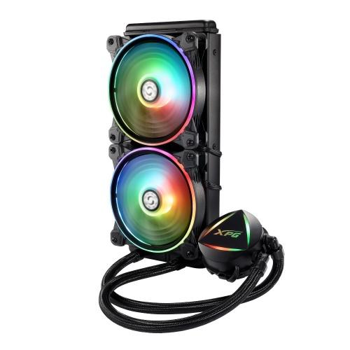 XPG Levante Enfriamiento Líquido para CPU, 2x 120mm, 600RPM - 2000RPM