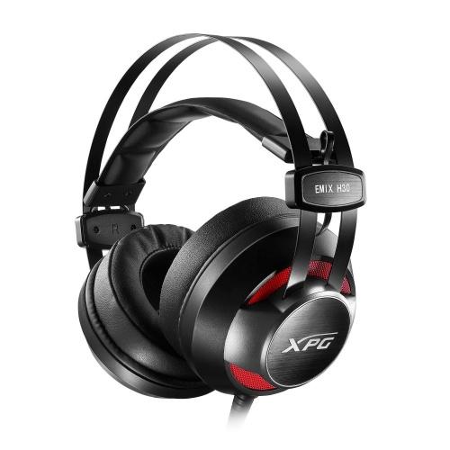 Adata Audífonos Gamer XPG EMIX H30 7.1, Alámbrico, 2.4 Metros, 3.5mm, Negro/Rojo + Amplificador XPG SOLOX F30 Virtual 7.1