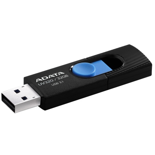 Memoria USB Adata UV320, 32GB, USB 3.1, Negro/Azul