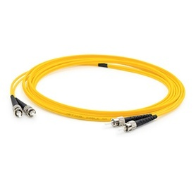 AddOn Cable Fibra Óptica OS2 Dúplex ST Macho - ST Macho, 15 Metros,  Amarillo