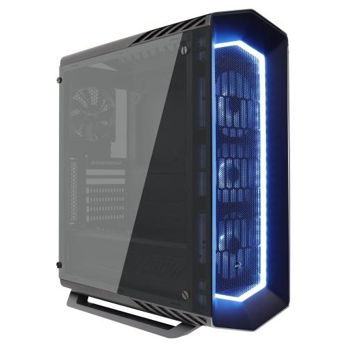 Gabinete Aerocool P7-C1 Pro con Ventana RGB, Midi-Tower, ATX/Micro-ATX/Mini-ITX, USB 2.0/3.0, sin Fuente, Negro