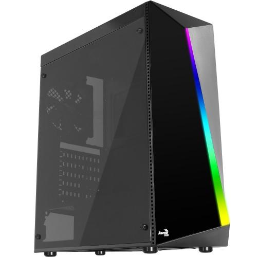 Gabinete Aerocool Shard con Ventana RGB, Midi-Tower, ATX/Micro-ATX/Mini-ITX, USB 2.0, sin Fuente, Negro