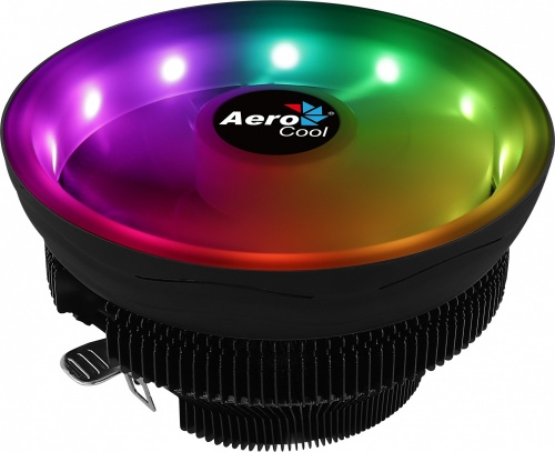 Disipador CPU Aerocool Core Plus RGB, 136mm, 600 - 1800RPM, Negro/Blanco