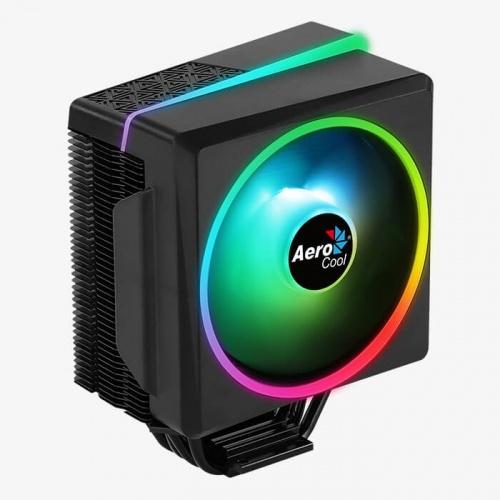 Disipador CPU Aerocool Cylon 4F RGB, 120mm, 800 - 1800RPM, Negro