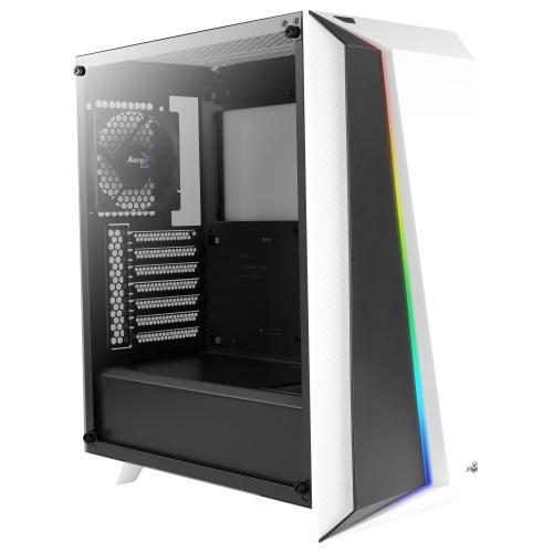 Gabinete Aerocool Cylon Pro RGB con Ventana, Midi-Tower, ATX/Micro ATX/Mini-ITX, USB 2.0/3.0, sin Fuente, Blanco