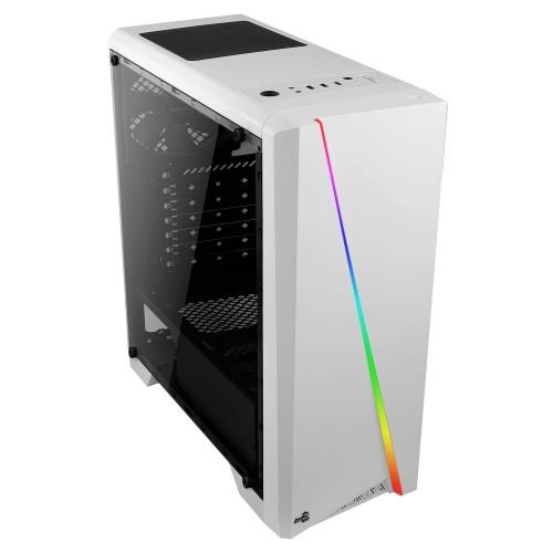 Gabinete Aerocool Cylon con Ventana de Cristal Templado RGB, Midi-Tower, ATX/micro ATX/mini-ITX, USB 2.0/3.0, Blanco