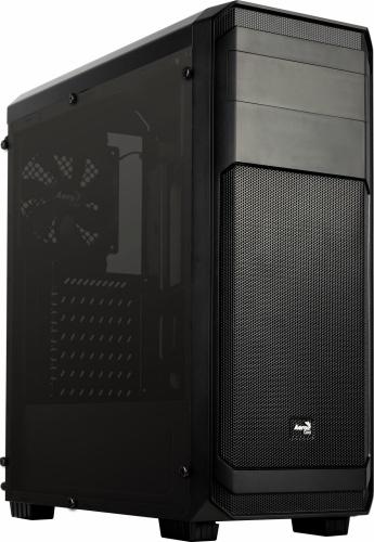 Gabinete Aerocool Aero-300 FAW con Ventana, Midi-Tower, ATX/Micro-ATX, USB 2.0/3.0, sin Fuente, Negro