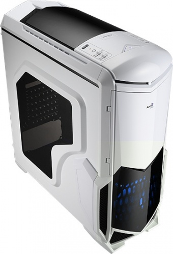 Gabinete Aerocool BATTLEHAWKWH con Ventana LED Azul, Midi-Tower, ATX/micro-ATX/mini-iTX, USB 2.0/3.0, sin Fuente, Blanco