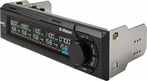 Aerocool X-Vision Panel, Controlador de Ventilador, 5 Canales, Negro