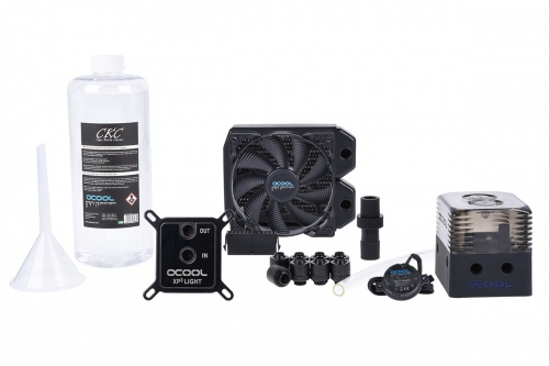 Alphacool Kit Eissturm Enfriamiento Líquido para CPU, 1x 120mm, 500-1600RPM