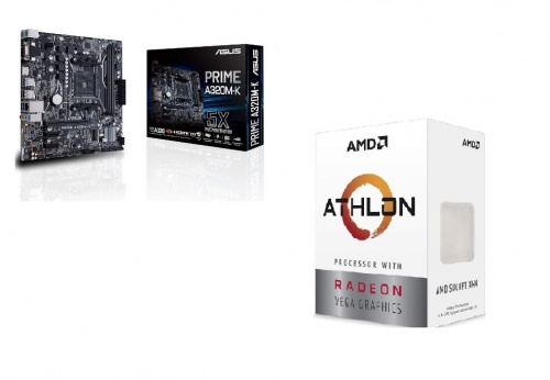 Procesador AMD Athlon 3000G con Gráficos Radeon Vega 3, S-AM4, 3.50GHz, Dual-Core, 4MB L3 Cache — incluye Tarjeta Madre ASUS Micro ATX A320M-K