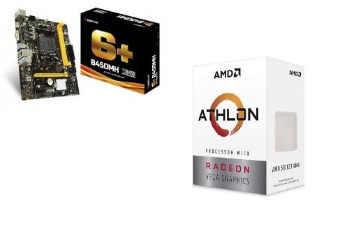 Procesador AMD Athlon 3000G con Gráficos Radeon Vega 3, S-AM4, 3.50GHz, Dual-Core, 4MB L3 Cache — incluye Tarjeta Madre Biostar Micro ATX B450MH