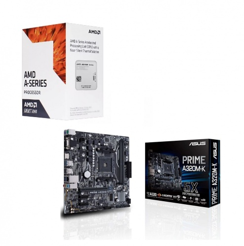 Procesador AMD A6-9500, S-AM4, 3.50GHz, Dual-Core, 1MB L2 Cache ― incluye Tarjeta Madre ASUS A320M-K