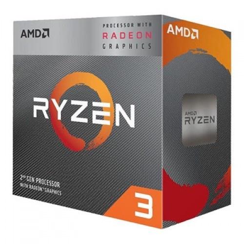 Procesador AMD Ryzen 3 3200G con Gráficos Radeon Vega 8, S-AM4, 3.60GHz, Quad-Core, 4MB L3, con Disipador Wraith Stealth — incluye Tarjeta Madre Biostar B450MH