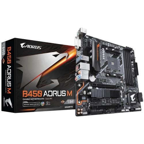 Tarjeta Madre AORUS micro ATX B450 AORUS M (rev. 1.0), S-AM4, AMD B450, HDMI, 64GB DDR4 para AMD ― Requiere Actualización de BIOS para Ryzen Serie 5000