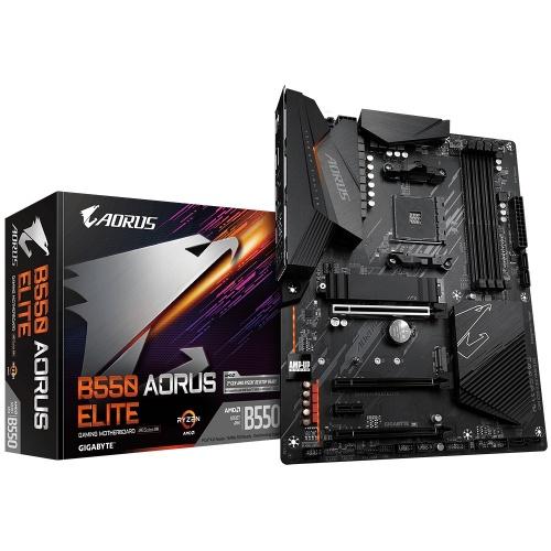 Tarjeta Madre AORUS ATX B550 ELITE, S-AM4, AMD B550, HDMI, 128GB DDR4 para AMD