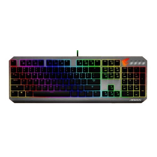 Teclado Gamer AORUS K7 RGB, Teclado Mecanico, Cherry MX Red, Alámbrico, Negro (Inglés)