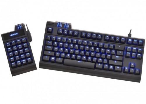 Kit Gamer de Teclados AORUS THUNDER K7 incluye Teclado Mecánico + Macro Keypad