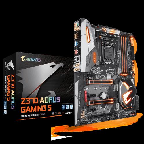 Tarjeta Madre AORUS ATX Z370 Gaming 5, S-1151, Intel Z370, HDMI, 64GB DDR4 para Intel ― Compatibles solo para 8va Generación