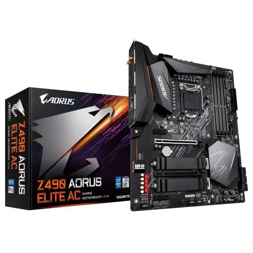 Tarjeta Madre AORUS ATX Z490 ELITE AC, S-1200, Intel Z490, HDMI, 128GB para Intel