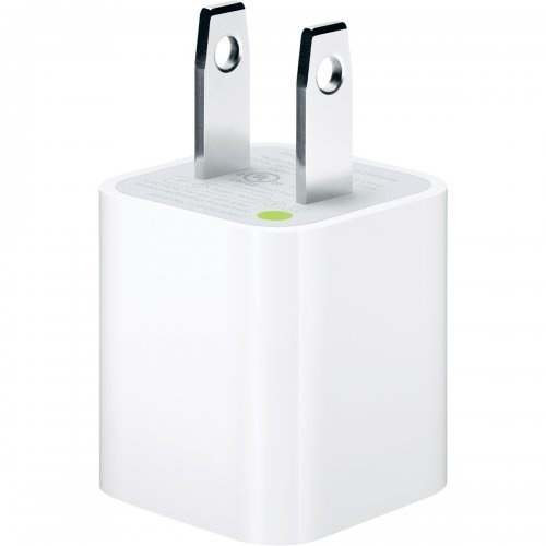 Apple Adaptador/Cargador de Corriente USB, 5W, para iPhone/iPod