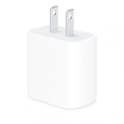 Apple Adaptador/Cargador de Corriente USB-C, 20W, Blanco