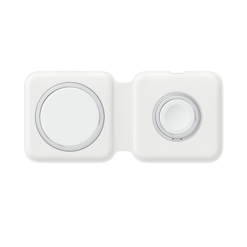 Apple Cargador Inalámbrico MagSafe Duo Charger, 9V, USB C, Blanco