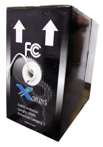 X-Case Bobina de Cable Cat5e UTP, 305 Metros, Gris