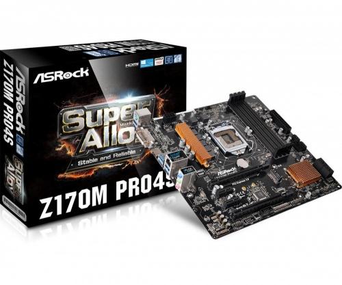 Tarjeta Madre ASRock Micro ATX Z170M Pro4S, S-1151, Intel Z170, HDMI, 64GB DDR4 para Intel